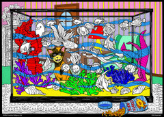 Aquarium - 10x14 Coloring Poster