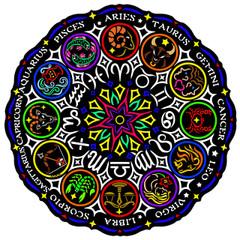 Zodiac Fuzzy Mandala