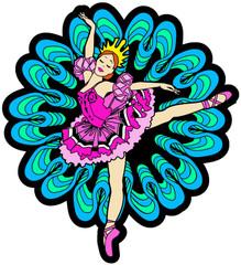 Ballerina Velvet Ornament