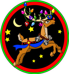 Reindeer Fuzzy Ornament