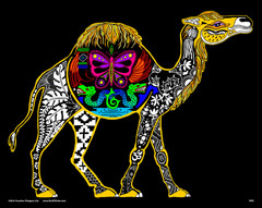 Camel - 16x20 Fuzzy Velvet Coloring Poster Inner Nature