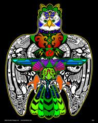Thunderbird - 16x20 Fuzzy Velvet Coloring Poster Inner Nature
