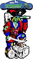 Zombie Pirate - Velvet Diecut