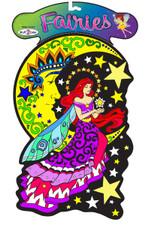 Fairy Moon - Velvet Diecut