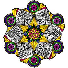 Spiral Stitch Mandala - Line Art
