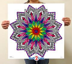 Compass Mandala - Line Art
