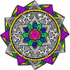 Ring Around Mandala - Line Art