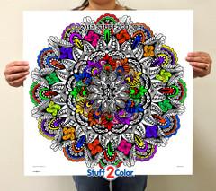Evolution Mandala - Line Art