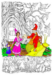 Gnome Special Delivery - 10x14 Coloring Poster