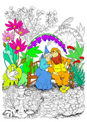 Gnome Lovers Lane - 10x14 Coloring Poster