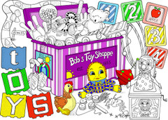 Toy Box - 10x14 Coloring Poster