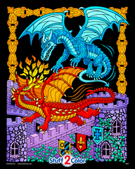 Dueling Dragons - Fuzzy Poster