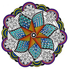 Pinwheel Fuzzy Mandala