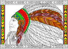 Headdress - 10x14 Coloring Poster
