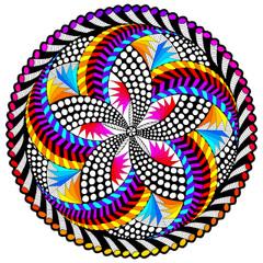 Spin Me Fuzzy Mandala