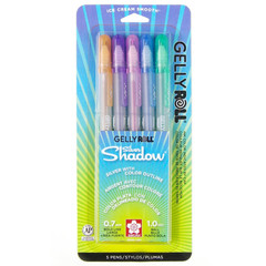 Sakura Silver Shadow Gelly Roll Pens 5-Piece Pack
