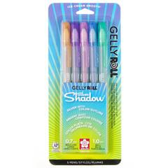 Sakura Silver Shadow Gelly Roll Pens 5-Piece Pack