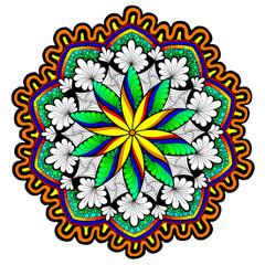 Rhythm and Flow Mandala - Line Art
