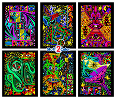 Cosmic - Fuzzy Velvet Coloring 6-Pack