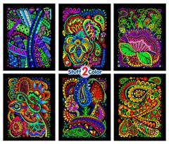 Tangles - Fuzzy Velvet Coloring Poster 6-Pack
