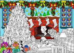 Christmas Morning - 10x14 Coloring Poster
