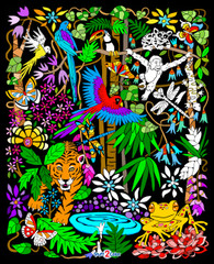 Rainforest - 16x20 Fuzzy Velvet Poster