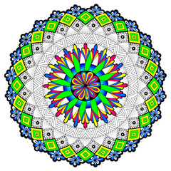 Outer Realms Mandala - Line Art
