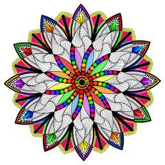 Clockwork Mandala - Line Art