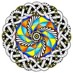 Woven Mandala - Line Art
