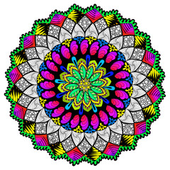 Shining Through Mandala - Line Art