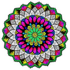 Shining Through Mandala - Line Art