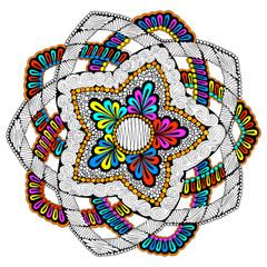 Sand Dollar Mandala - Line Art