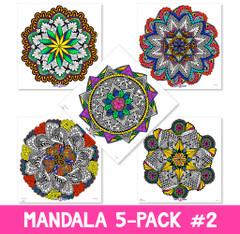 Mandala Coloring Poster 5-Pack II