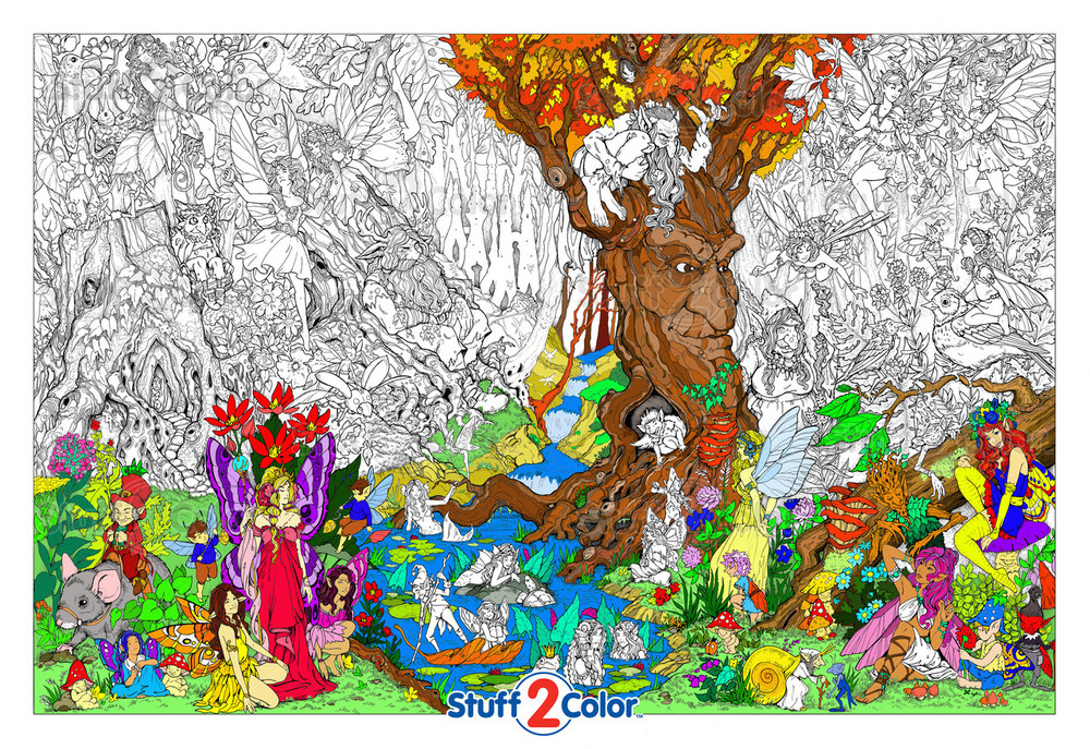 Beneath The Trees - Giant Coloring Poster