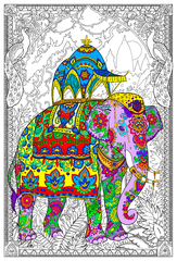 Painted Elephant - Giant Wall Poster