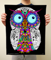 Owl - Best Selling Fuzzy Poster to Color By Squidoodle