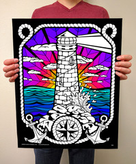Lighthouse - 16x20 Fuzzy Poster