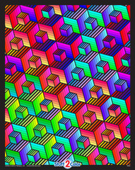 Cubes - 16x20 Fuzzy Poster