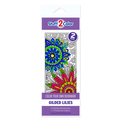 Gilded Lilies - Coloring Bookmark (2 Pack)