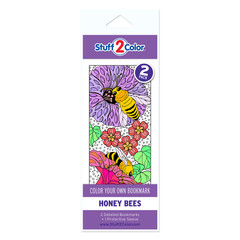 Honey Bees - Coloring Bookmark (2 Pack)