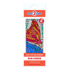 Rain Garden - Coloring Bookmark (2 Pack)