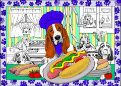 Hot Diggity Dog - 10x14 Inch Coloring Poster