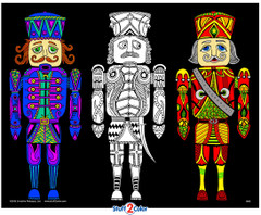 Nutcrackers - 16x20 Fuzzy Poster by Squidoodle