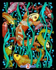 Koi Fish by Squidoodle- 16x20 Fuzzy Poster