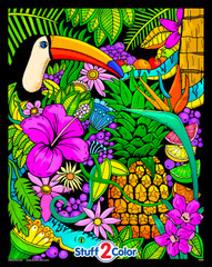 Tropical Paradise  - 16x20 Fuzzy Poster by Squidoodle
