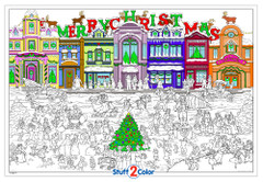 Christmas is Coming - Giant Coloring Poster