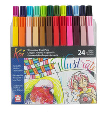 Sakura Koi Brush 24-Piece Pen Set