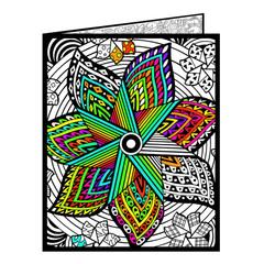 Pinwheel Fuzzy Velvet Coloring Folder