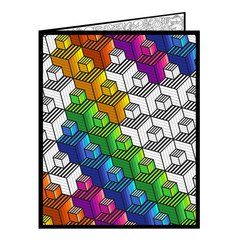 Cubes Fuzzy Velvet Coloring Folder