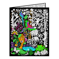 Rain Forest Fuzzy Velvet Coloring Folder